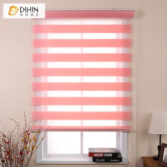 Modern Zebra Blinds Double Layer Light Shading Window Roller Blinds