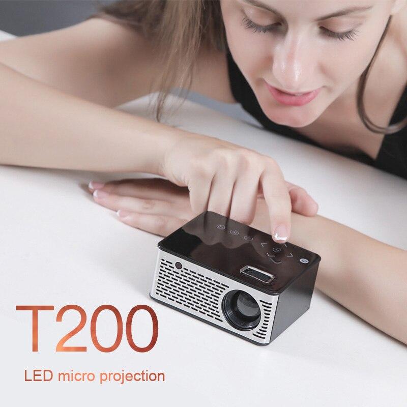 FÜHRTE Mini Projektor HD Tragbare HDMI USB AV Unterstützung Power Bank Lade Für Home SL @ 88