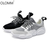 Spring and Summer 2019 New Casual Lace Sports Leather Mesh Face Wild Low To Help Womens Shoes Cute Mesh Shoes Bear Shoes