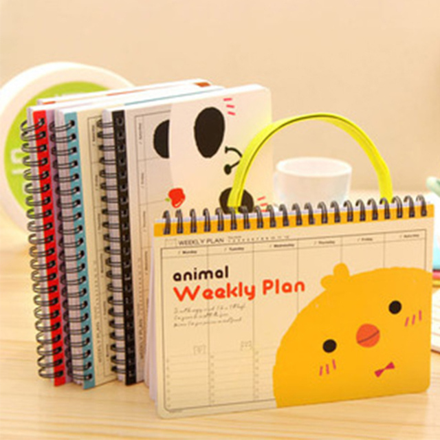 Hot Weekly planner school notebook paper Cute Planners organizer Diary Note book Notepad Stationary products Supplies gift