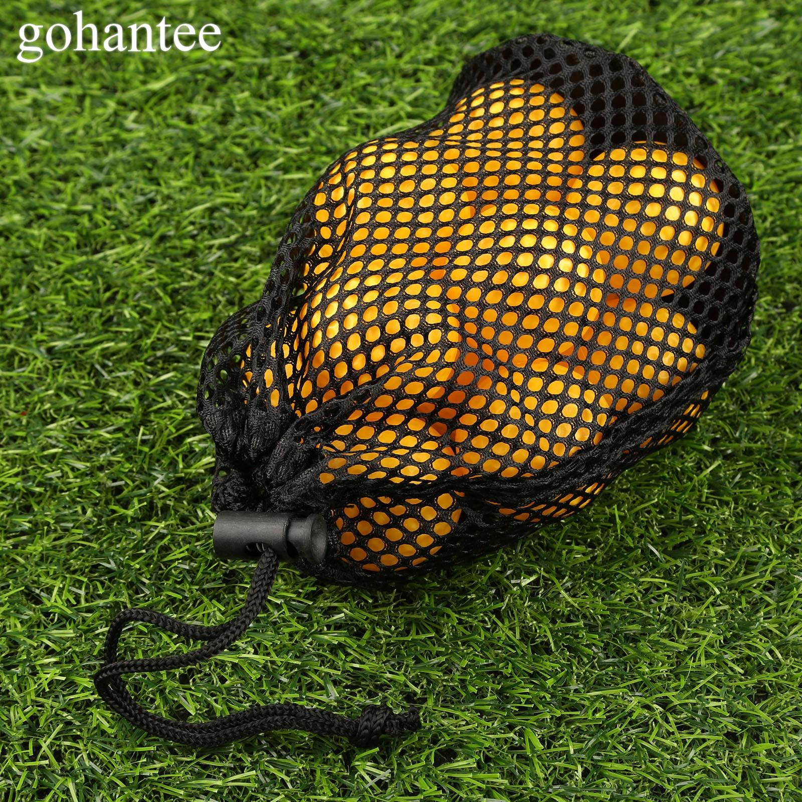 Nylon Mesh Nets Bag Pouch Fit Golf Tennis Hold 12-16 Balls Holder Outdoor Sports Golf Balls Storage Closure Golf Training Aids