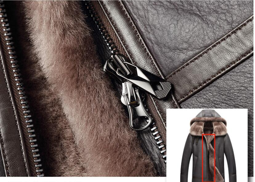 HTB1n YjdjfguuRjSspaq6yXVXXam AYUNSUE Genuine Leather Jacket Men Winter Australian Natural Fur Real Sheepskin Coat for Men Lamb Fur Flight Men's Jackets KJ853