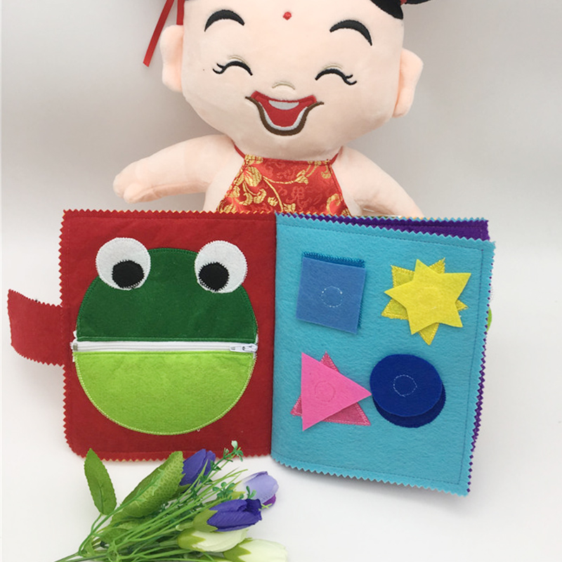 Cartoon Infant Toddlers Cloth Book Toys Children Early Development Cloth Books for Baby Children New Learning Education Books 1pcs english picture flip learning education books for kids baby for children see inside weather and climate