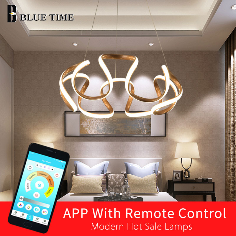 New Design Home Modern LED Pendant Lights For Living Room Bedroom Dining Room Plated Golden Frame LED Pendant Lamps AC 110V 220VNew Design Home Modern LED Pendant Lights For Living Room Bedroom Dining Room Plated Golden Frame LED Pendant Lamps AC 110V 220V