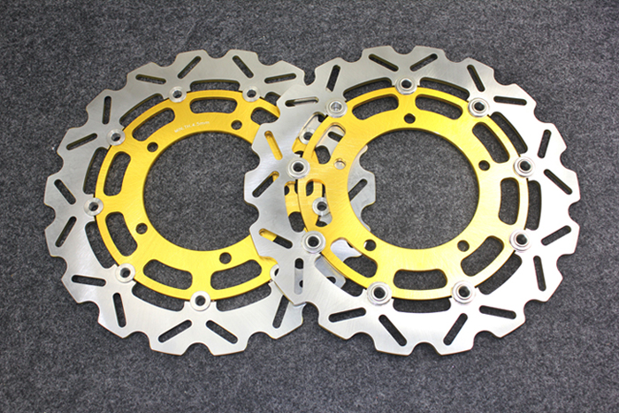 Motorcycle Front Brake Disc Rotors For GS500 89-08/GSR600  06-08/RF 900  94-98 Universel brand new motorcycle rear brake disc rotors for yamaha 250 3mai 89 fz400 4yr1 96 fzr400 89 92 universel