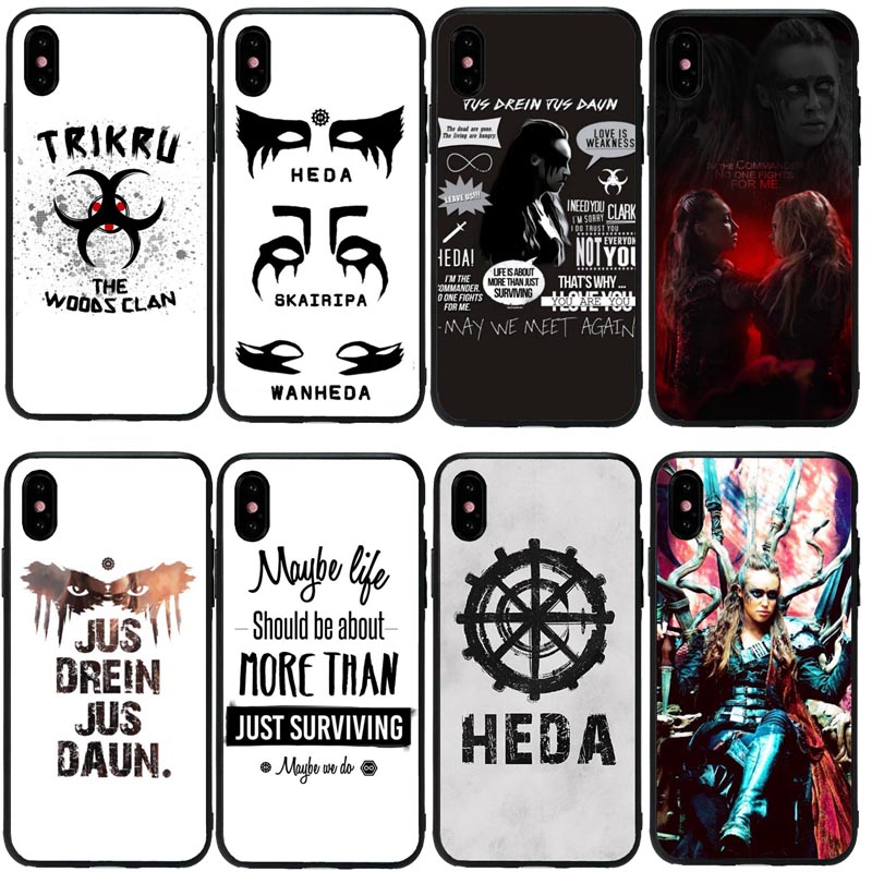 Lavaza Heda Lexa The 100 TV Show Coque Silicone Case for iPhone 5 5S 6 6S Plus 7 8 X XS Max XR