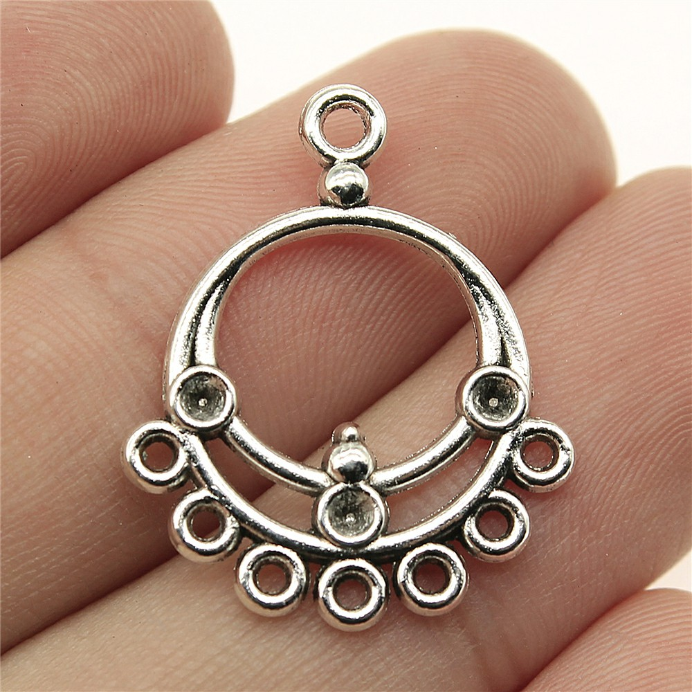 WYSIWYG 12pcs 27*22mm earring connector Pendants Charms Findings Jewellery Making Findings for DIY Craft