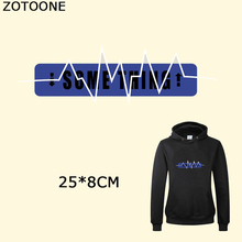 ZOTOONE Some Thing Diy Letters Iron on Patches Appliques T-shirt Heat Transfer Stickers for Clothes Decorations DIY Accessory