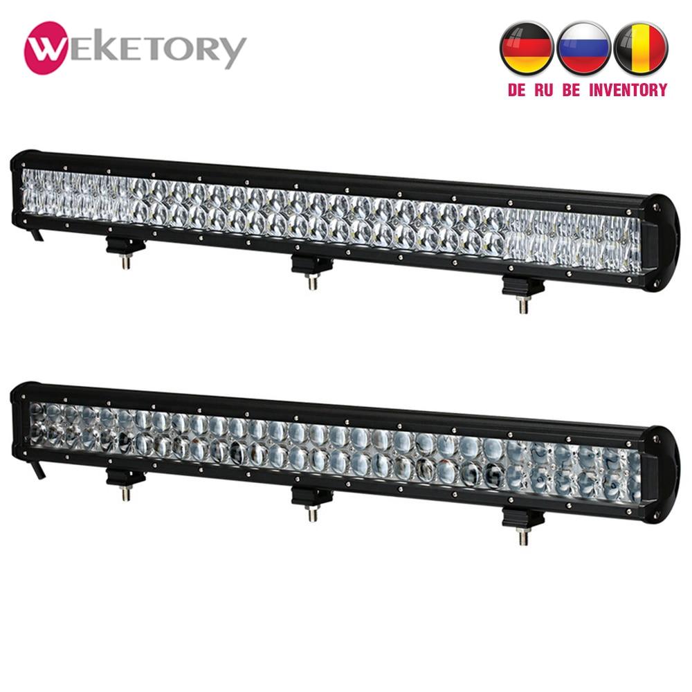 Weketory 28 pouces 300 W 4D 5D LED Travail Light Bar pour Tracteur Bateau OffRoad 4WD 4x4 Camion SUV ATV Spot Flood Combo Faisceau 12 V 24 v