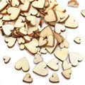 Симпатичные 100 шт. 4 Размеры Смешанные Деревенский Деревянный Сердце Любовь Свадьба Таблица Разброса Украшения