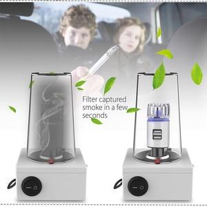 Image 5 - 2 in 1 Car Dual USB Fresh Air Ionic Purifier Oxygen Bar Ozone Ionizer Smoke Generator For Cars Cleaner Car Air Ionizer Purifier