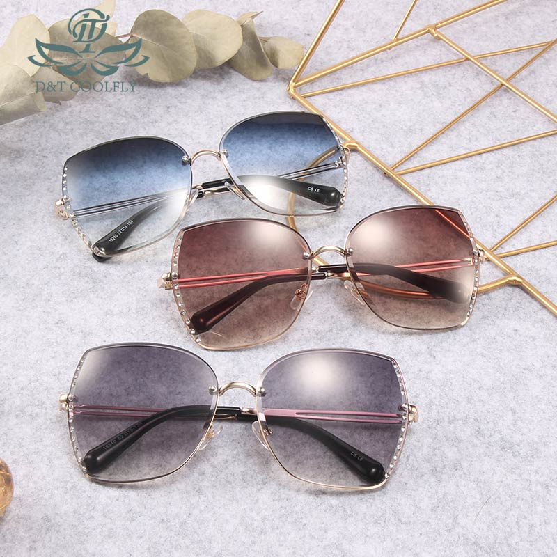 Rimming Square Sunglasses Fashion Street Tool For Party Photography Driving Vintage Diamond Decorated New Arrival Eye Wear