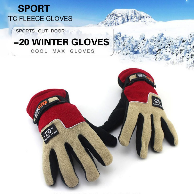 Men Winter Fleece Thermal Warm Bicycle Snow Ski Gloves Breathable Bike Cycling Riding Gloves for Women Men Skiing Motorcycle in Cycling Gloves from Sports Entertainment