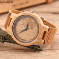 GORBEN Vintage Wood Watch Mens Womens Reindeer Sculpture Designer Watches Luxury Bamboo Natural Wooden Watch Christmas Gifts