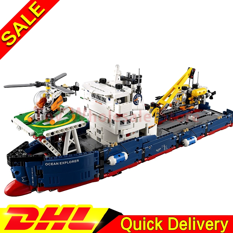 Lepin 20034 Genuine Technic Series Remote-control The Searching Ship Set Building Blocks Bricks lepins Toys Clone 42064 lepin 22001 pirates series the imperial flagship model building blocks set pirate ship lepins toys for children clone 10210