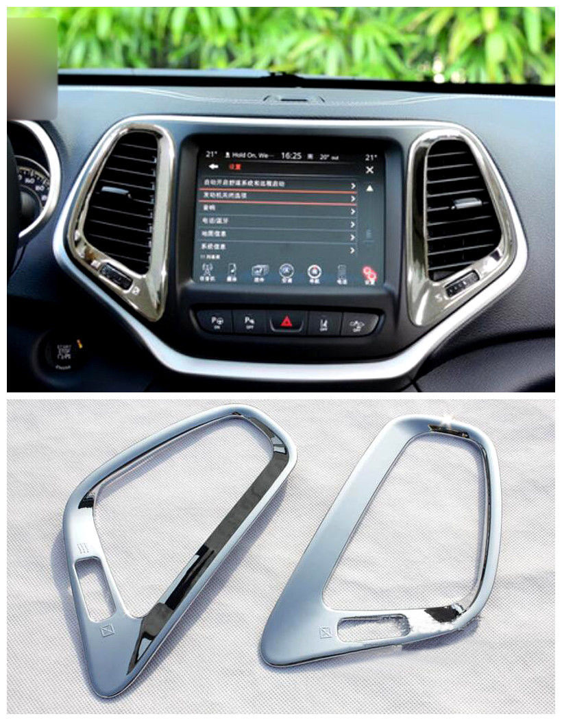 Details about Middle Console Air Condition Vent Cover Trim for Jeep Cherokee 2014 2015 2016 car accessories