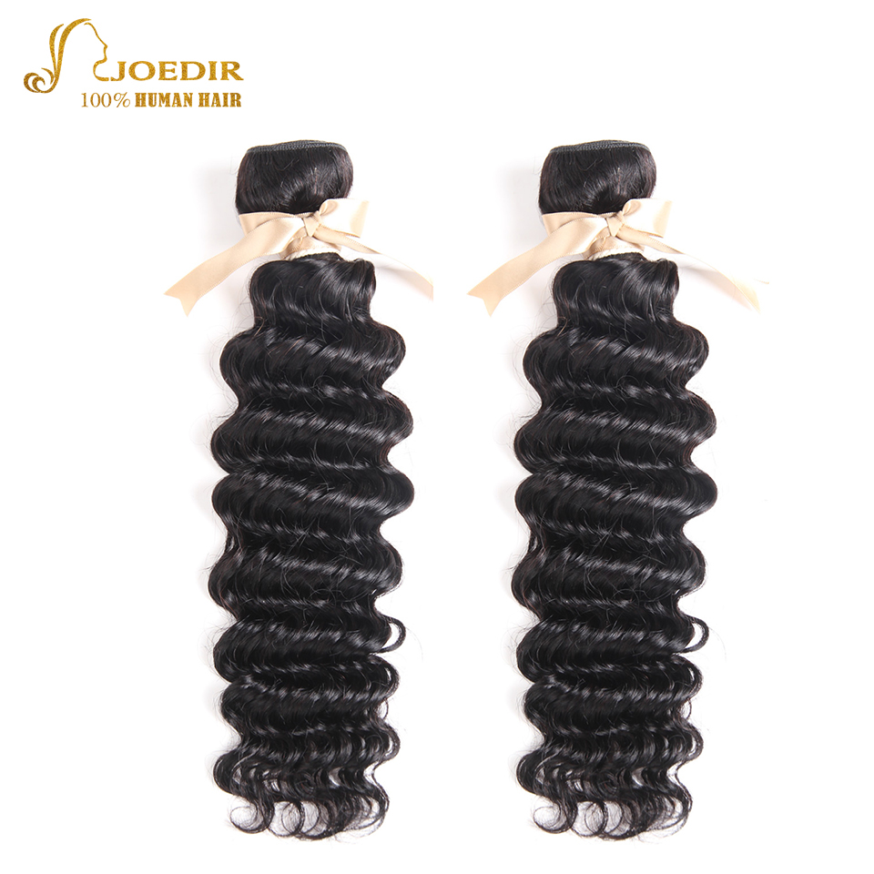 Joedir Indian Deep Wave Bundles Virgin Hair 100% Human Hair 2 Bundles Unprocessed Hair Extension Human Hair Weave For Salon Sale