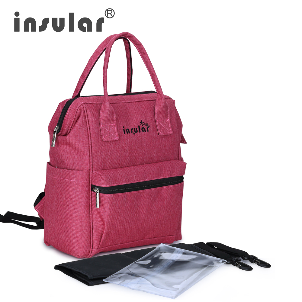 ФОТО  New Style Insular Multifunctional Baby Diaper Bag Backpack Fashion Mommy Bag Backpack Waterproof Nappy Backpack