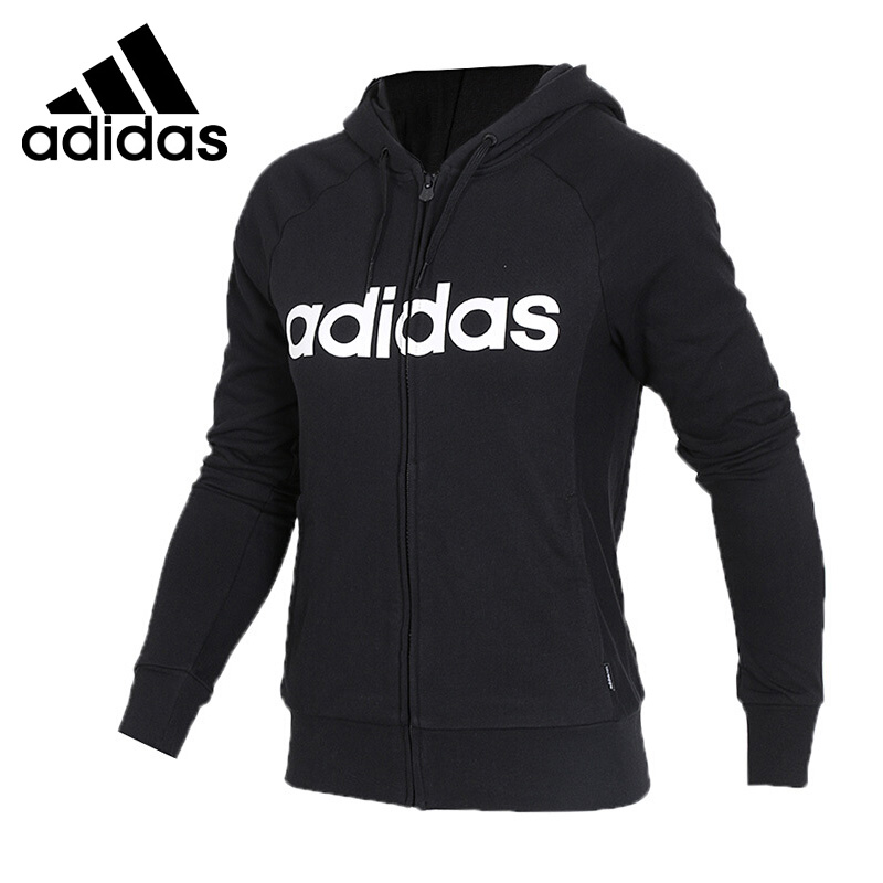 Original New Arrival 2018 Adidas NEO Label W CE ZIP HOODIE Women's jacket Hooded Sportswear plaid insert side zip hooded tee