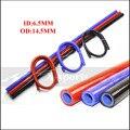 ID 6 5 мм система охлаждения Радиатор промежуточного охладителя силиконовый шланг плетеная трубка высокого качества длина 1 м красный/синий/ч...