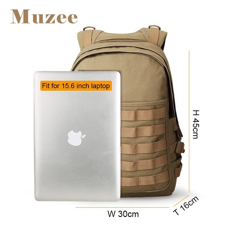 Muzee sac à dos pour ordinateur portable hommes avec USB sac à dos de charge grand sac de voyage hommes sac à dos de mode convient à 15.6 pouces - 2