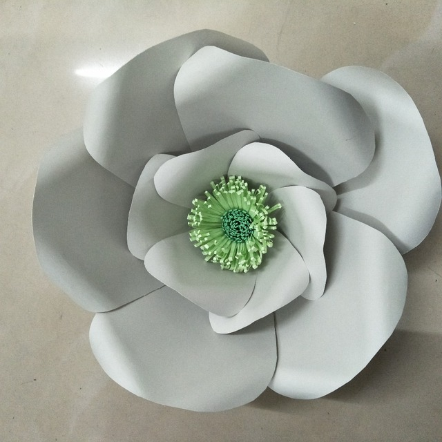Handmade giant paper flowers spring inspired nursery room wall arts handmade giant paper flowers spring inspired nursery room wall arts grey and green colors paper flowers mightylinksfo