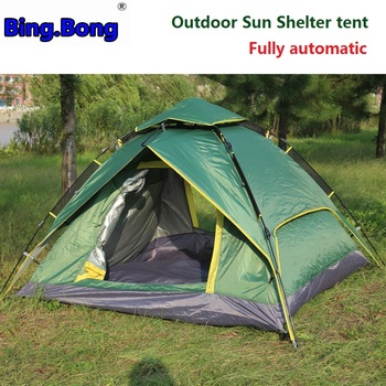 Outdoor Sun Shelter tent 3-4 fully automatic two-layer tarp double tents picnic awning rainproof camping toldo beach tent gazebo