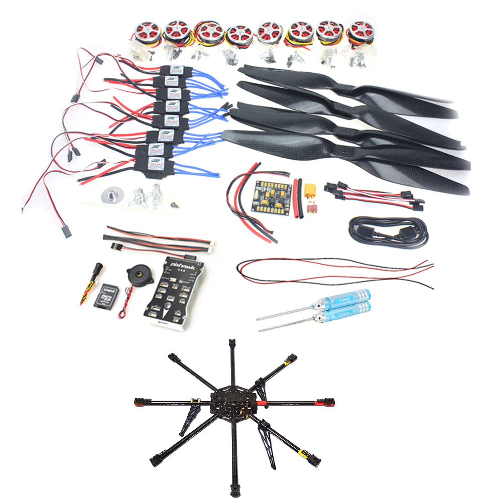 Details about DIY 8-Axle Unassembled 1000mm Carbon RC Drone Octocopter PX4  PIX M8N GPS PNF Kit