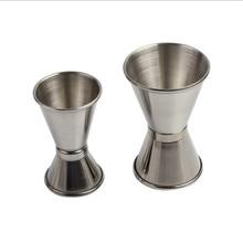 Лидер продаж 1 шт. 25/50 мл измерения мерный стаканчик один двойной выстрел короткая чашка инструмент один двойной выстрел коктейль вина мера чашки