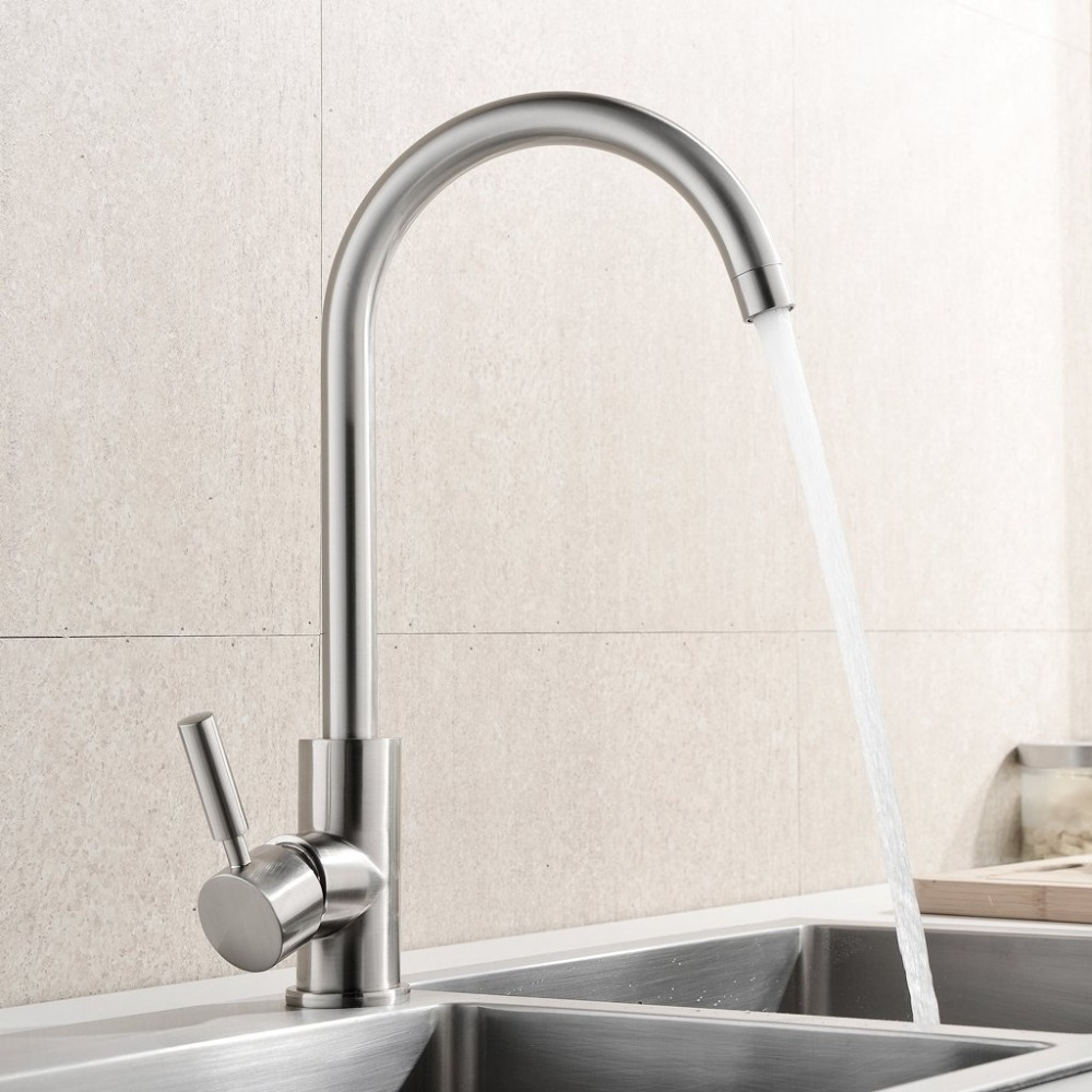 2016 new kitchen faucet Stainless Steel mixer tap torneira cozinha Brushed Nickel grifos cocina Single Handle