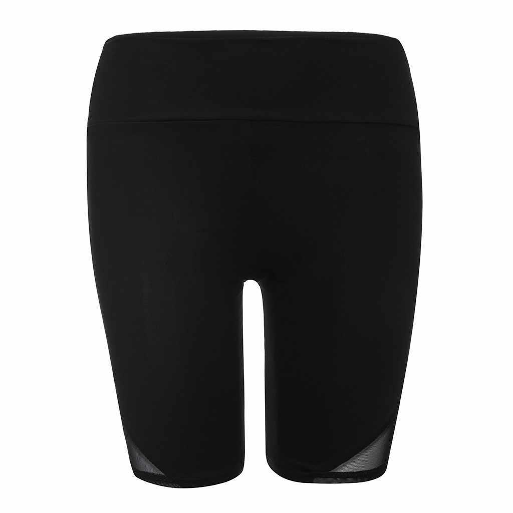 Nowy Sport szorty dla kobiet wysoka talia rozciągliwy szorty podstawowe z wysokim stanem siatki krótkie sportowe 30AP25