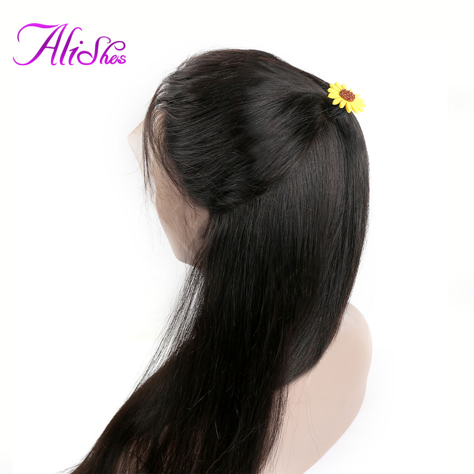 Alishes Human Hair Brazilian Straight Lace Front Wigs For Black Women 10 26 Inch Long Remy