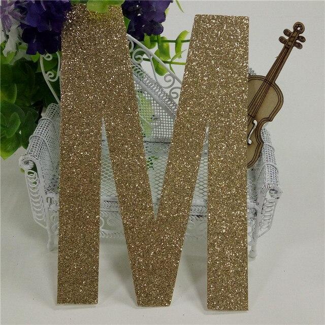 "Letter M Home Decor Cool Decorative 5"" Upper Case Letters M Gold Glitter Paper 1000Piece Design Ideas"