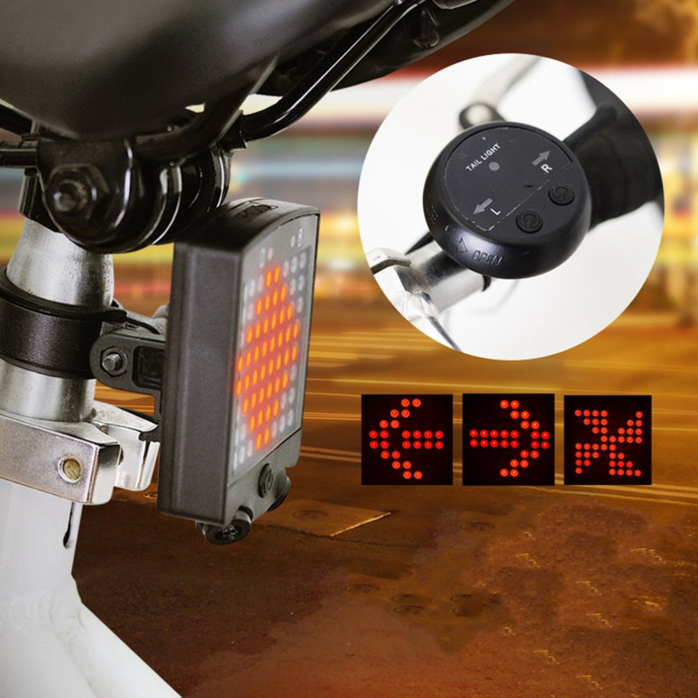 Wireless Bicycle Laser Tail Light Bike Turn Signal Remote Control Safety LED Warning Taillight USB Rechargeable Rear Light New