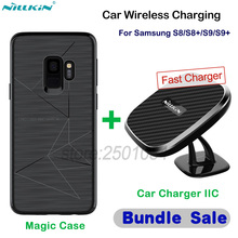 NILLKIN 10W Car Magnetic Qi Wireless Fast Charger Phone Holder Car Wireless Charging for Samsung Galaxy S8 S9 Plus+Magnetic Case