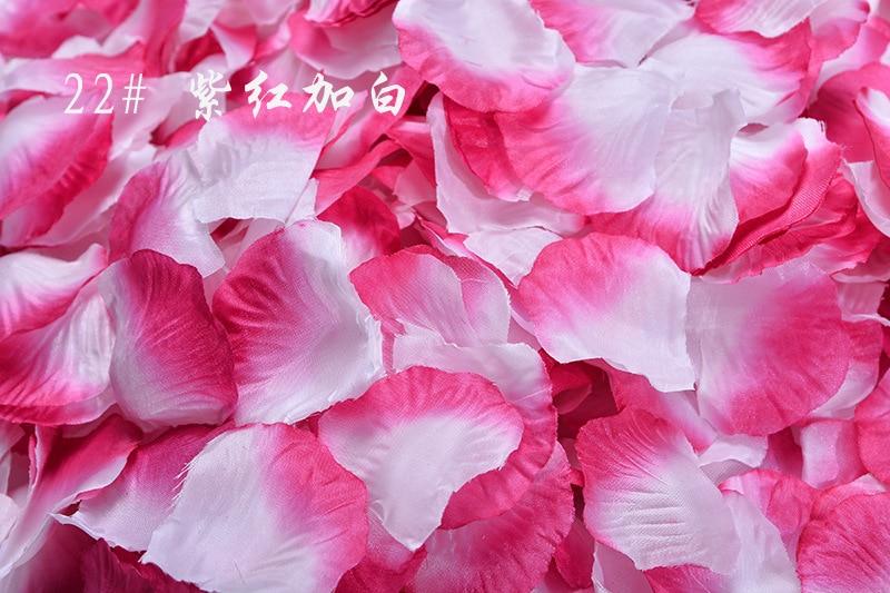 2018 New 1000pcs Fake Rose Petals Flower Girl Toss Silk Petal Artificial Petals For Wedding Confetti Party Event Decoration H1