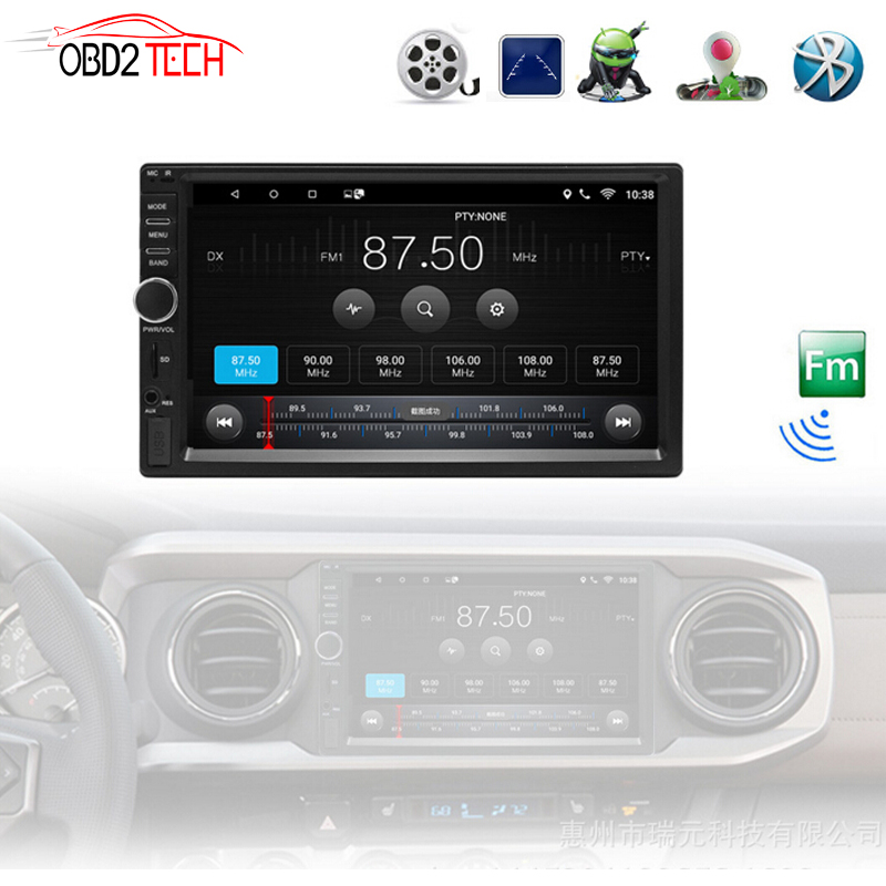 Android Bluetooth Autoradio Multimedia Player Car Stereo FM Radio GPS Navigation with Full Touch Screen USB SD 2 Din Audio Play