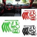 ABS Chrome Руль Отделка Кондиционер Vent Интерьера Аксессуары Дверная Ручка Крышки Наборы Для Jeep Wrangler JK