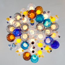 single glass pendant of colourful glass 7 colors available spheres ball pendant lights Dia10cm modern lamp
