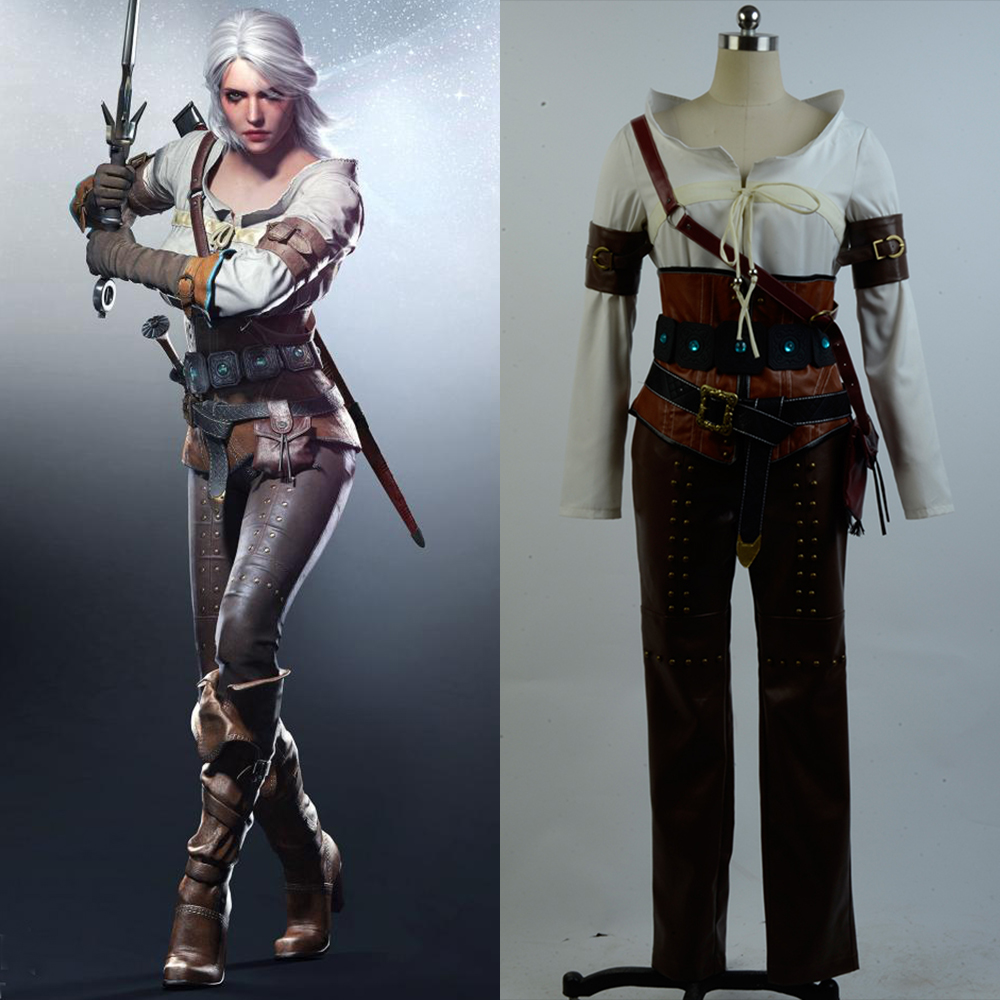 The Witcher 3 sauvage chasse Ciri Cirilla Fiona Elen Cosplay Costume Halloween fête pour les filles femme tout ensemble