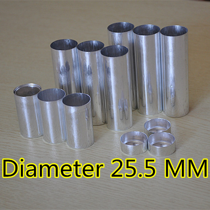 200 Pieces/lot OD 25.5MM Dental Lab Materials Empty Cartridges For Making Dentures Teeth Mold Dental Aluminum Tubes Cartridges