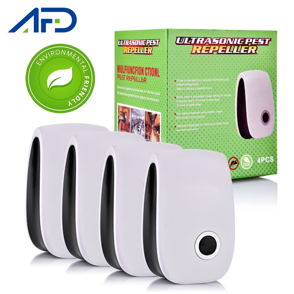 4pcs Ultrasonic Electronic Pest Control Rodent Rat Mouse Repeller Mice Mouse Repellent Anti Mosquito Mouse Repeller EU Plug