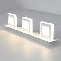 Modern Fashion Creative Square Acryl Aluminum Led Mirror Light For Bathroom Bedroom Mirroe Light Waterproof 32
