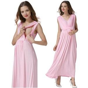 Image 4 - Vestidos de Noche largos de verano para mujeres embarazadas, vestidos de maternidad para lactancia materna