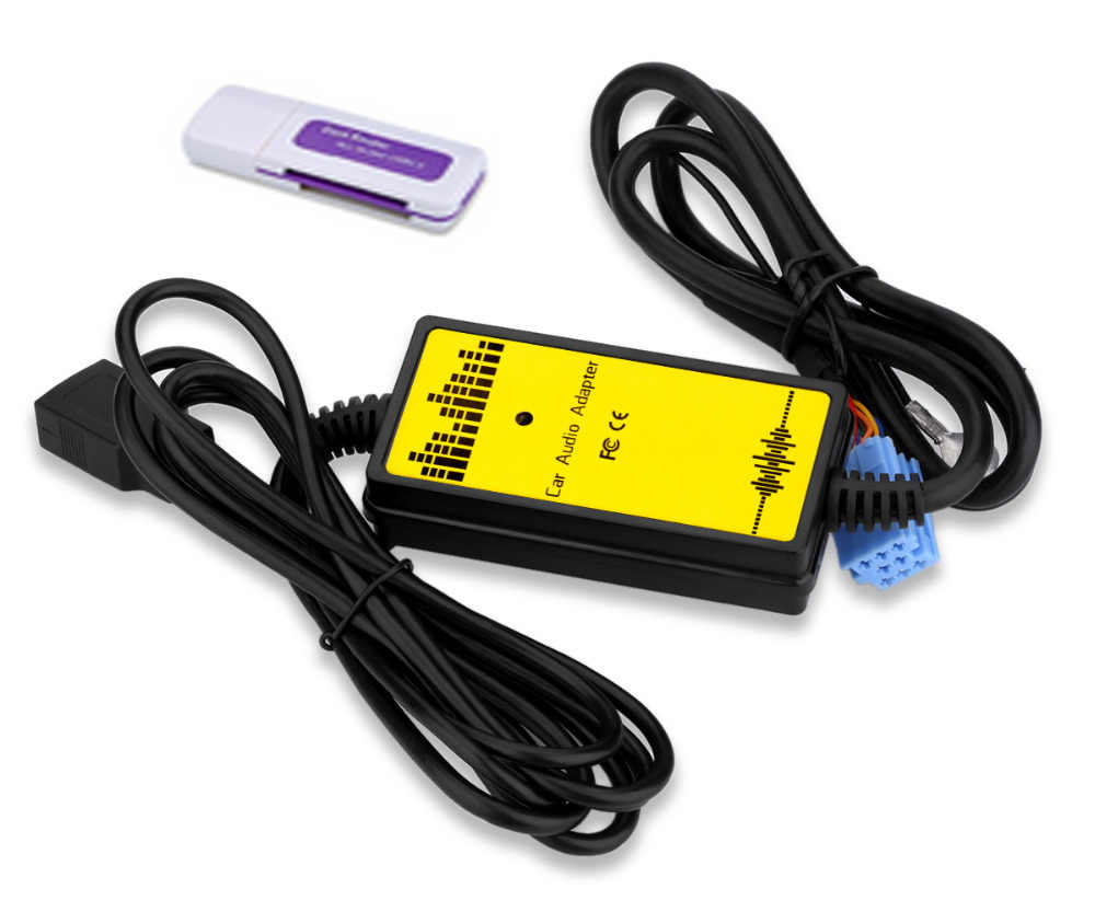 カーオーディオの Aux USB インタフェースアダプタ SD カード MP3/Wma デコーダ 8Pin 自動 CD チェンジャーアウディ A2 A3 a4/S4 A6/S6 A8/S8 TT