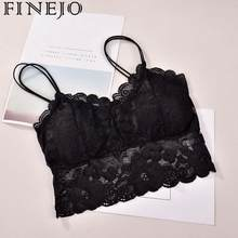 Women's Bra Hollow Out Stylish Sleeveless Lace Sell Nightclub Cami Bralette Crochet Solid Crop Tank Flower Bra Vest Sexy Hot(China)