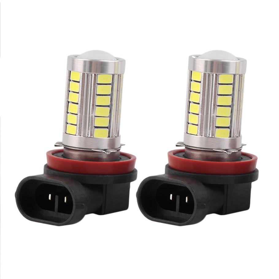 2pcs H11 Super Bright 5630 33 SMD Auto LED White Fog Lamp Light Bulb Driving Car light hot selling 2pcs h11 h8 super bright 5630 33 smd auto led white fog lamp light bulb driving car light car h11 h8 lights hot sell