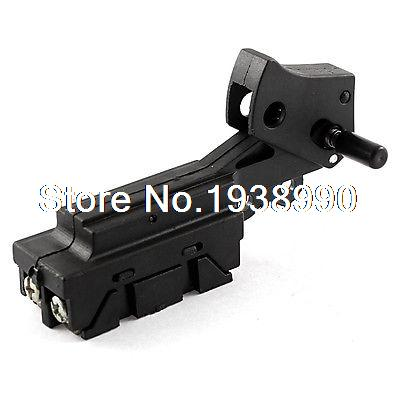 on-Lock Button SPST Trigger Switch for Power Tool Cut off Machine 5e4 ac 250v 4a speed control lock on trigger switch spst for electric drill
