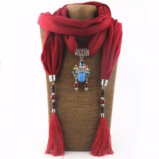 673ef9e3b79e 2018 Bijoux moda Collar para mujer Multicolor de cuentas de cerámica  declaración bufanda collares joyería Bohemia