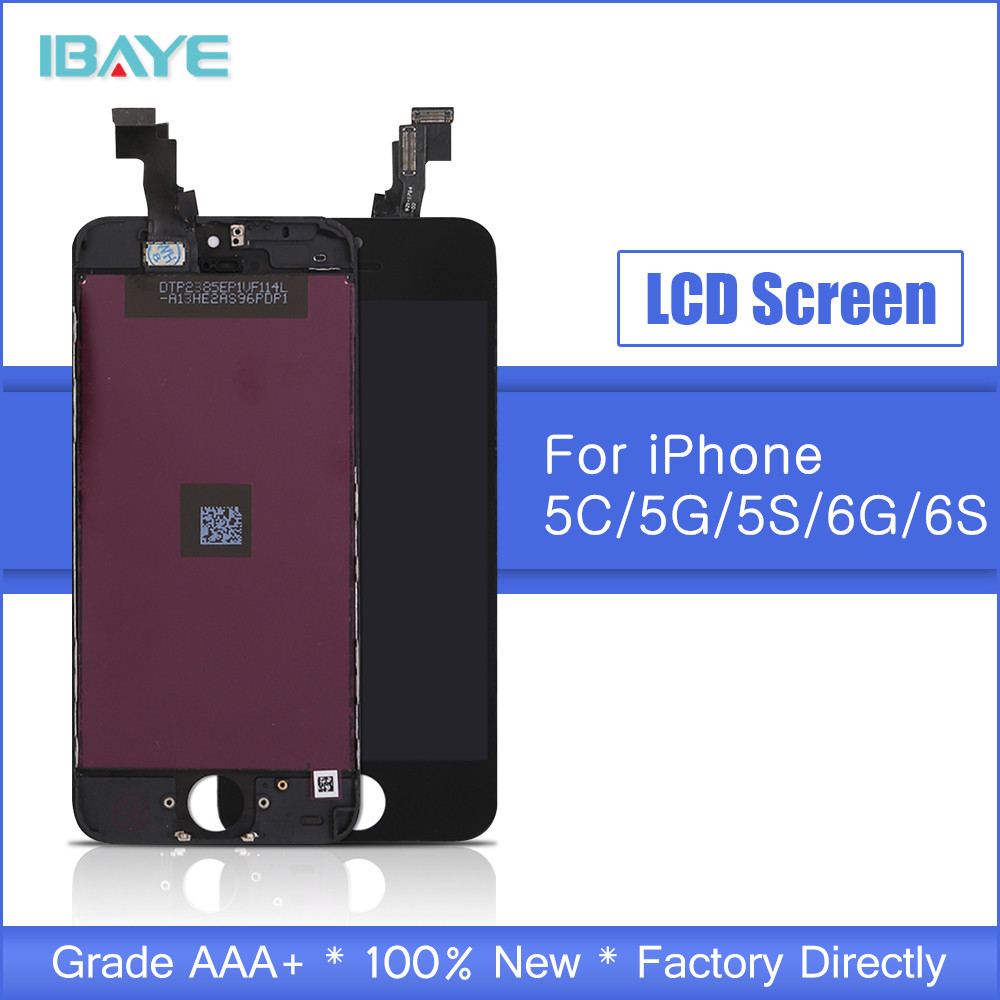 Black For <font><b>iPhone</b></font> 5C LCD Display Touch Screen Digitizer Assembly <font><b>Ecran</b></font> Replacement AAA Brand LCD Pantalla image